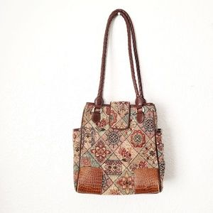 Coldwater Creek Tapestry floral Patchwork Purse